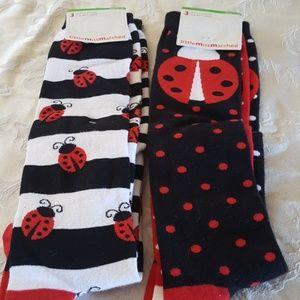 NET Little miss matched knee socks
